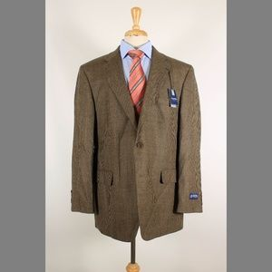 Stafford 44R Brown Wool Sport Coat 95-J